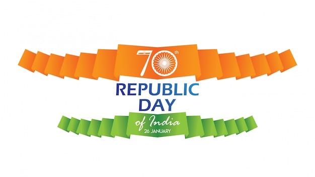 Kreatives poster, banner oder flyer für tag der republik indien Premium Vektoren