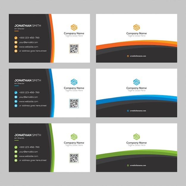 Kreatives Visitenkartedesign Premium Vektoren