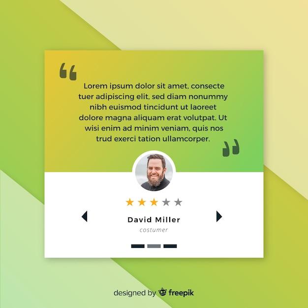 Kreatives web-testimonial-konzept Kostenlosen Vektoren