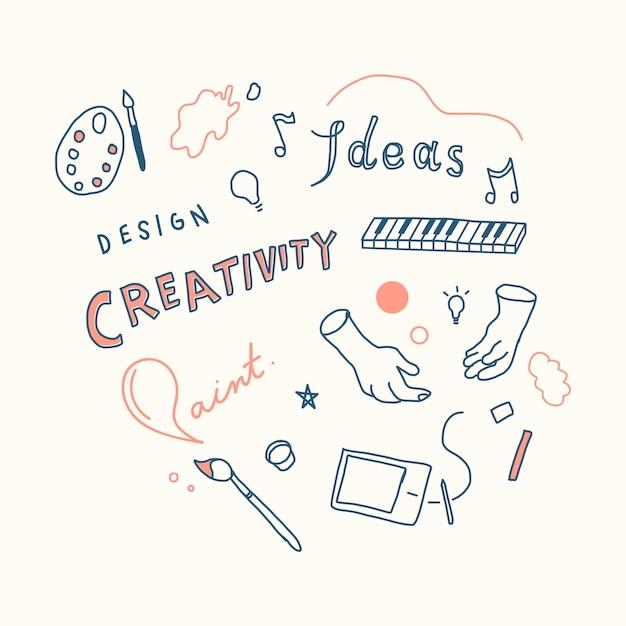 Kreativität und innovationskonzeptillustration Kostenlosen Vektoren