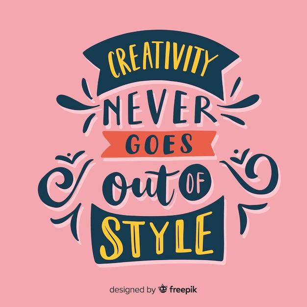 Kreativitätsbeschriftungshintergrund mit farben Kostenlosen Vektoren
