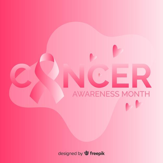 Krebsbewusstseinsmonat mit band Kostenlosen Vektoren