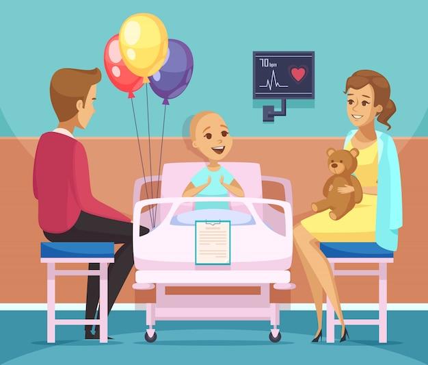 Krebspatient illustration Kostenlosen Vektoren