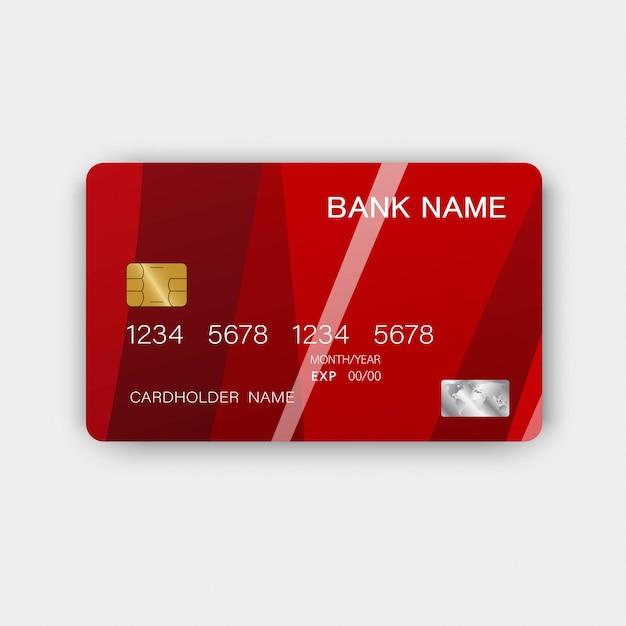 Kreditkarte. mit inspiration aus dem abstrakten. Premium Vektoren