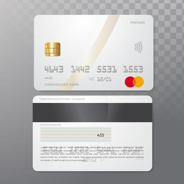 Kreditkarten-mockup Premium Vektoren