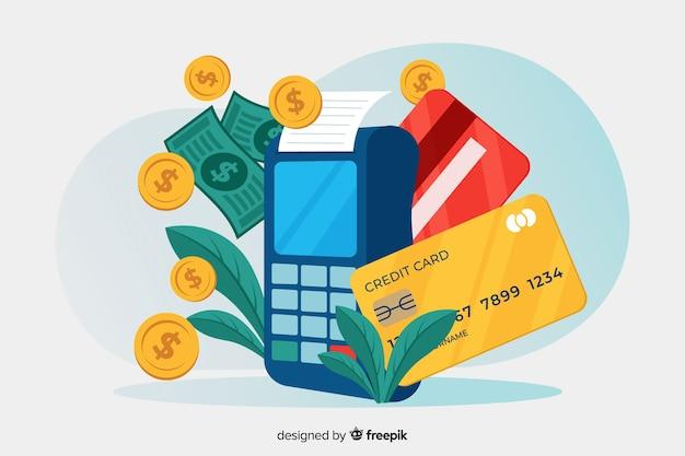 Kreditkartenzahlungs-zielseitenkonzept Kostenlosen Vektoren