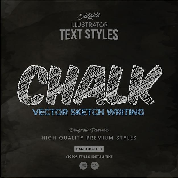 Kreide-textstil Premium Vektoren