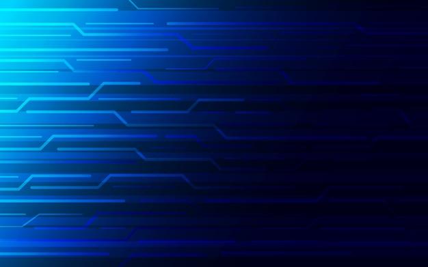 Kreis abstrakte technologie hintergrunddesign. Premium Vektoren