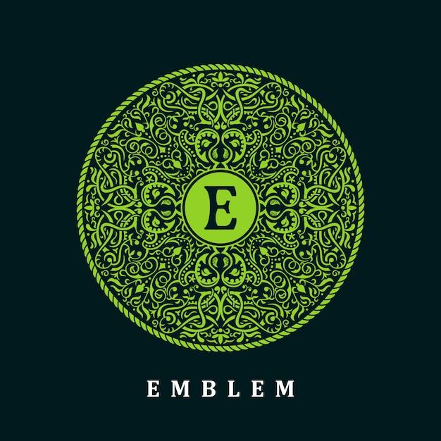 Kreis grünes logo Premium Vektoren