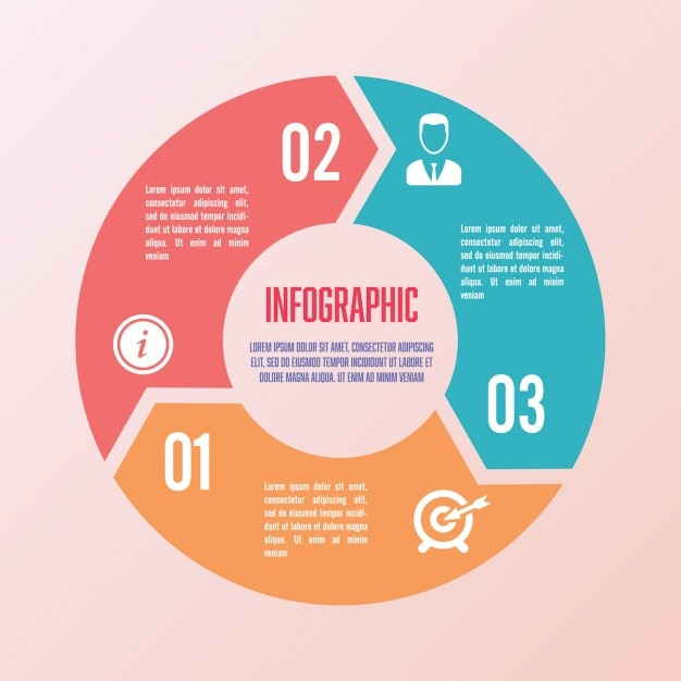 Kreis infografik-vorlage Kostenlosen Vektoren