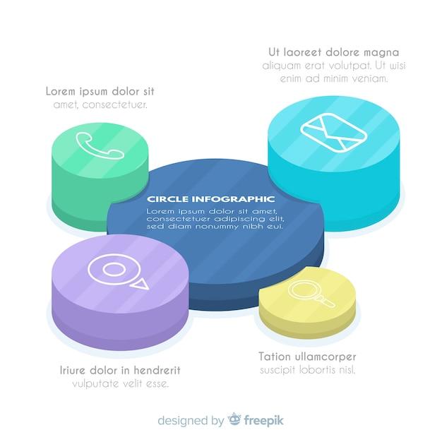 Kreis infografik Kostenlosen Vektoren