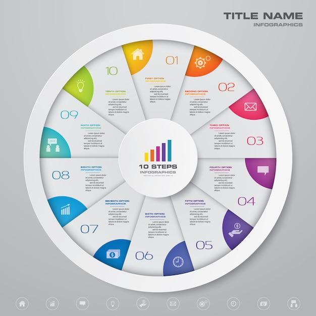 Kreisdiagramm infographik element Premium Vektoren