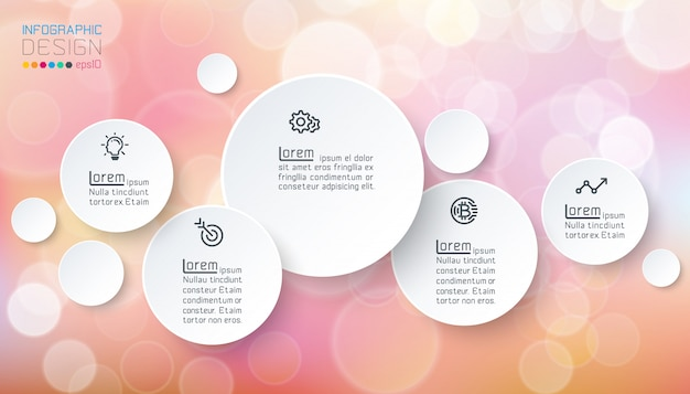 Kreise infografiken mit seifenblasen Premium Vektoren