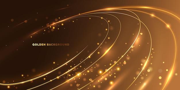 Kreisförmige goldene lichtlinie Kostenlosen Vektoren