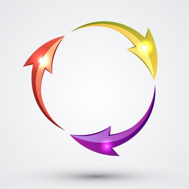 Kreisförmigen pfeile Kostenlosen Vektoren