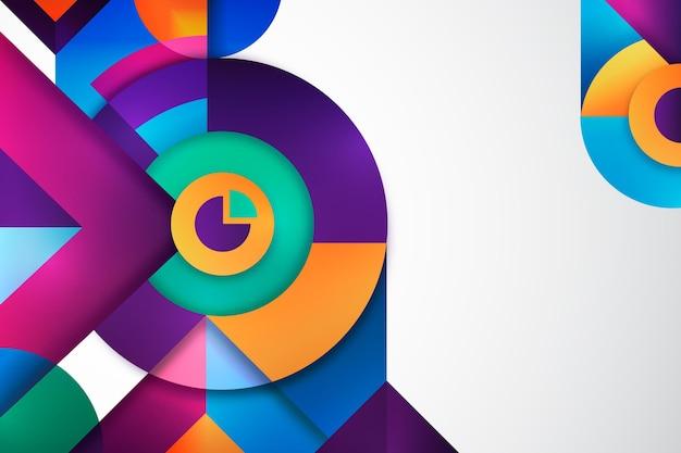 Kreisförmiger geometrischer gradientenhintergrund Kostenlosen Vektoren