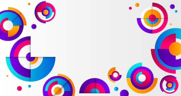 Kreisförmiger geometrischer gradientenhintergrundkopierraum Kostenlosen Vektoren