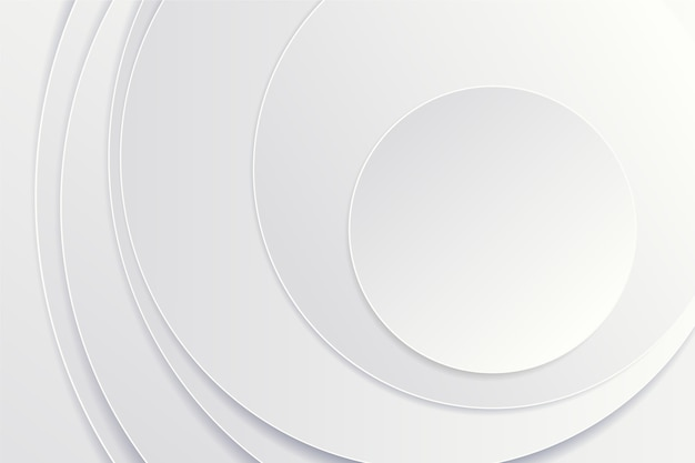 Kreisförmiger hintergrund der papierart 3d Kostenlosen Vektoren