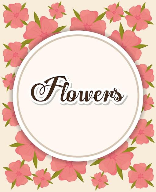 Kreisrahmen über schönen Blumen Hintergrund | Download der Premium ...