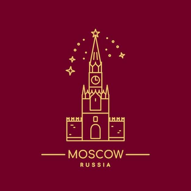 Kreml-turm Premium Vektoren