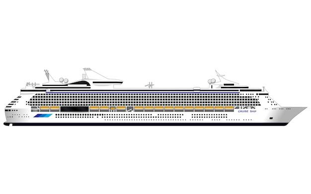 Kreuzfahrtschiff Premium Vektoren