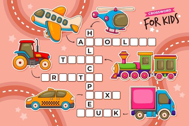 Kreuzworträtsel in englisch für kinder Kostenlosen Vektoren