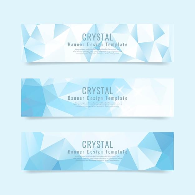 Kristall strukturierte hintergrundsammlung Kostenlosen Vektoren
