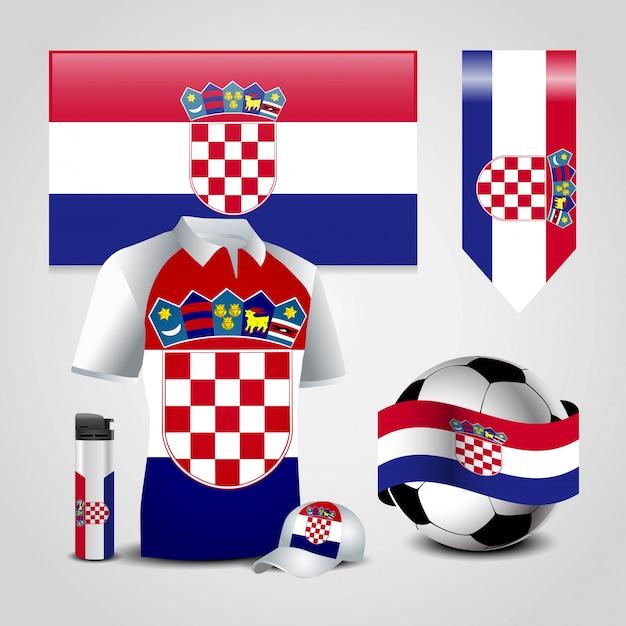 Kroatien fahne design vektor Premium Vektoren