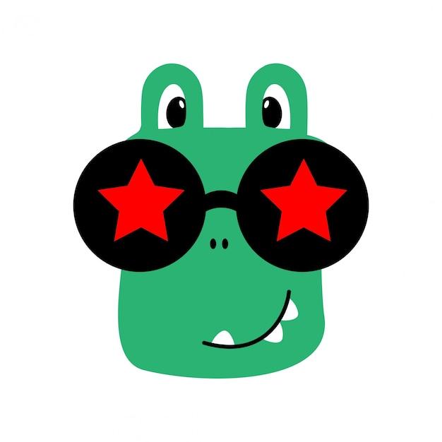 Krokodil - tierisch niedlich Premium Vektoren