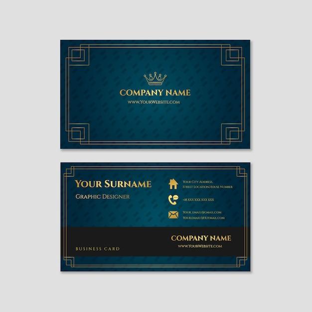 Krone luxus visitenkarte vorlage Kostenlosen Vektoren