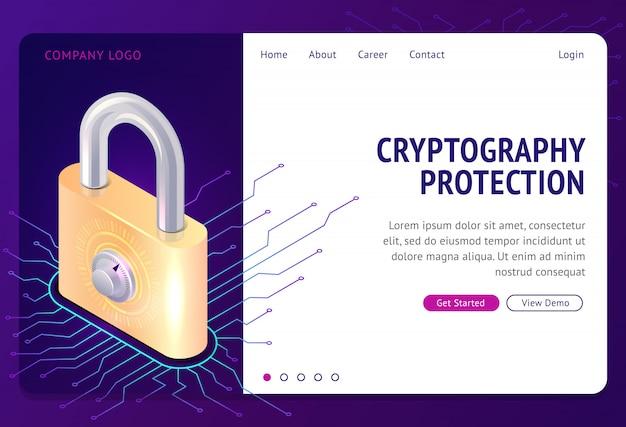 Kryptografieschutz, web template Kostenlosen Vektoren