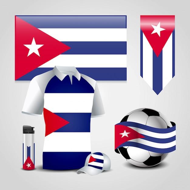 Kuba-landesflagge Premium Vektoren