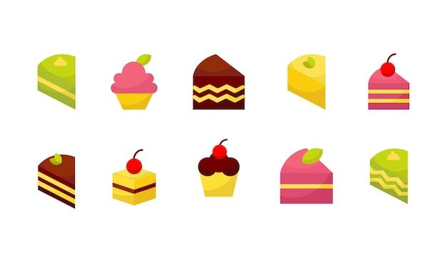 Kuchen Icon Sammlung Download Der Premium Vektor