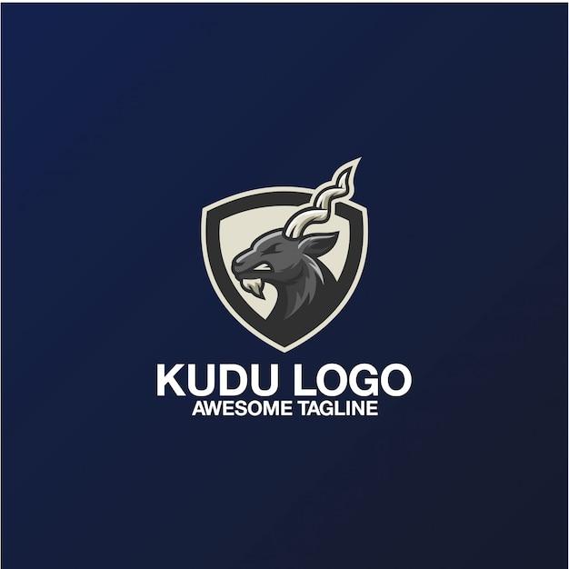 Kudu logo design fantastische inspiration inspirationen Premium Vektoren
