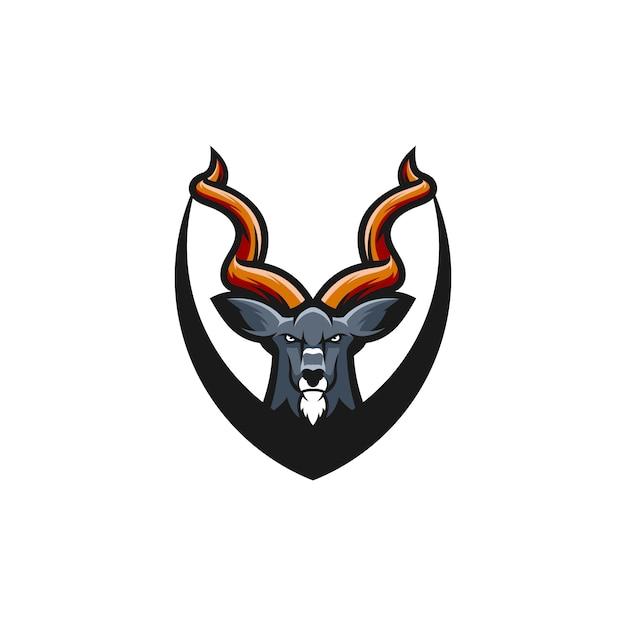 Kudu-logo-design Premium Vektoren