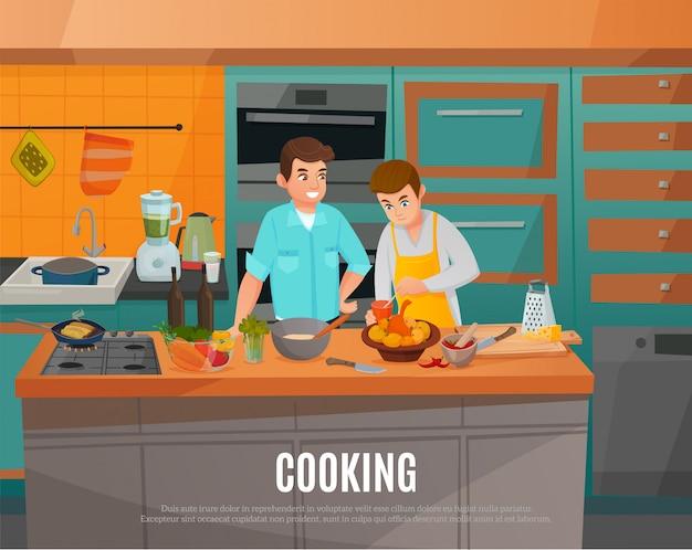 Küchen-show-illustration Kostenlosen Vektoren