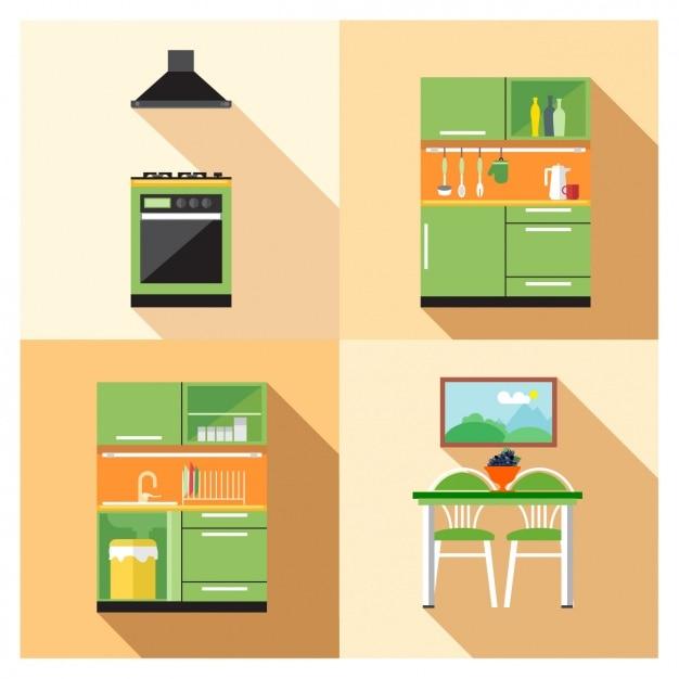 Küchenmöbel Kostenlosen Vektoren