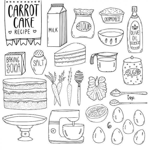 Küchenutensilien elemente. Premium Vektoren