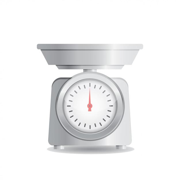 Küchenwaage Premium Vektoren