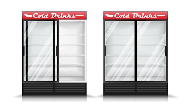 Kühlschrank realistisch Premium Vektoren