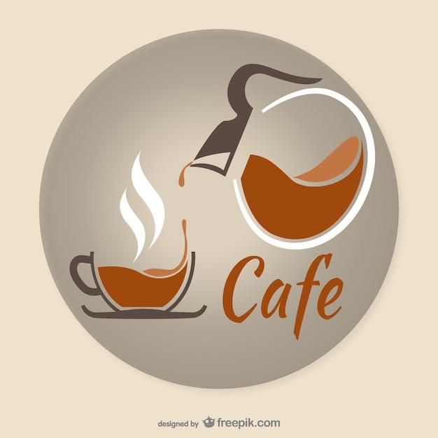 Künstlerische kaffee logo Kostenlosen Vektoren