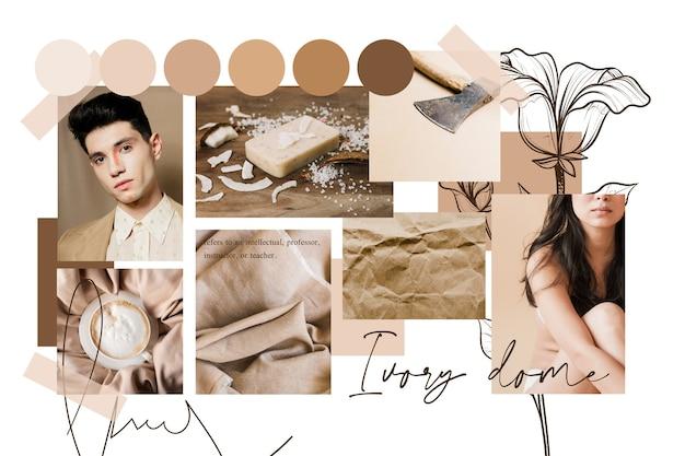 Künstlerische moodboard-collage mit bildern Kostenlosen Vektoren
