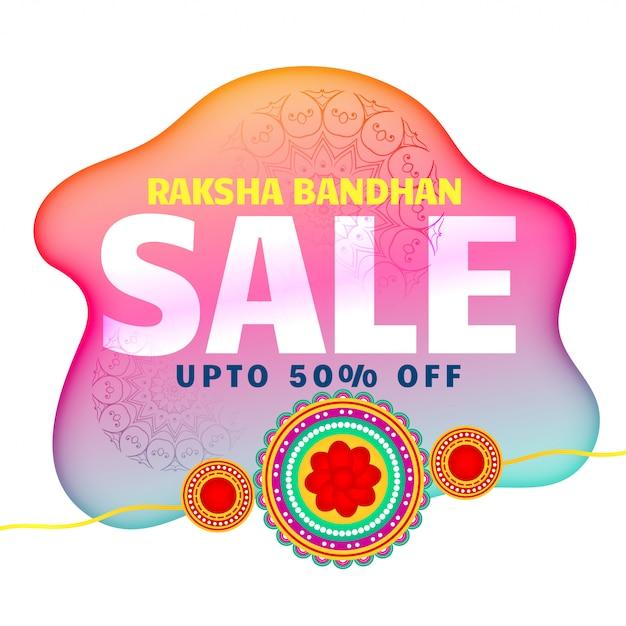 Künstlerischer raksha bandhan verkaufshintergrund Kostenlosen Vektoren