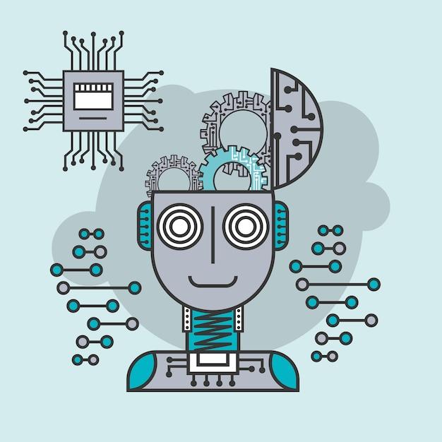 Künstliche intelligenz gehirn kreative innovation Premium Vektoren