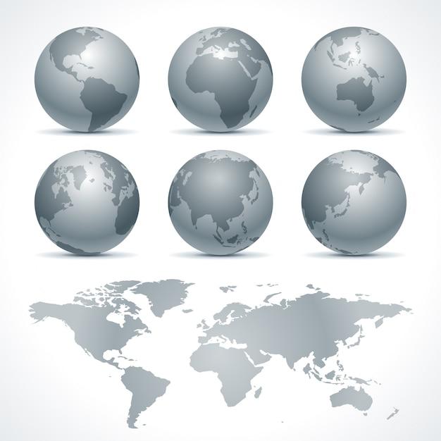 Kugelerdikonen stellten gestaltungselemente für infografiken ein. Premium Vektoren