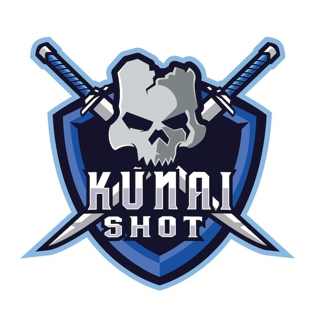 Kunai e sports-logo Premium Vektoren