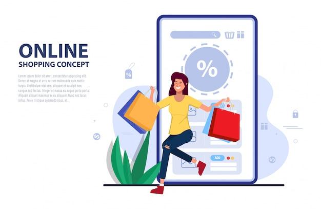 Kunden kaufen online-promotion-code für rabatt auf mobile anwendung. Premium Vektoren