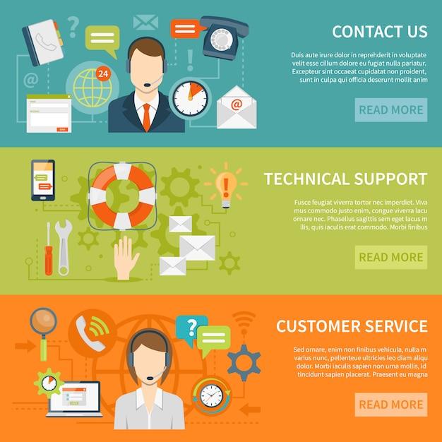Kunden-support-banner Kostenlosen Vektoren