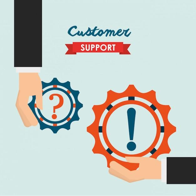 Kundenbetreuung illustration Kostenlosen Vektoren