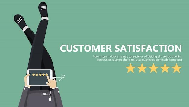 Kundenbewertung Kostenlosen Vektoren